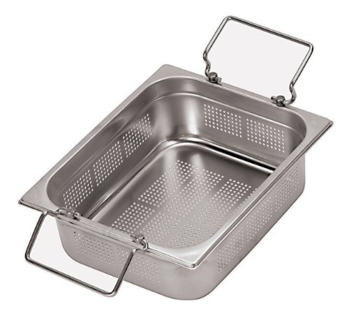 New Paderno World Cuisine 20 7/8 inches by 12 3/4 inches Stainless-steel Perforated Hotel Pan with F...
