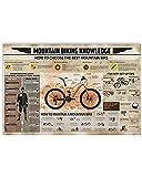 Arte de pared para bicicleta de montaña, impresión de salto de puesta de sol de bicicleta de montaña, arte de pared, conocimiento sobre ciclismo de montaña, sin marco, póster de 40,6 x 61 cm