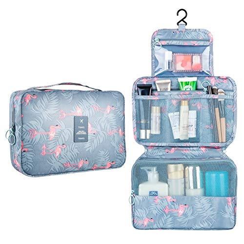 GEEDIAR Travel Hanging Toiletry Wash Bag Waterproof Makeup Cosmetic Organiser Ideal Gift for Women Girls Kids(A-Large)