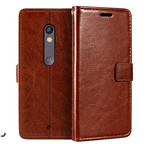 Custodia a portafoglio per Motorola Moto X Play in pelle PU di alta qualità con supporto per carte di credito e cavalletto per Motorola Moto X Play