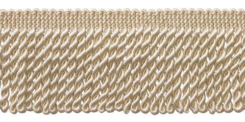 DÉCOPRO 10 Yard Value Pack / 2.5 Inch Bullion Fringe Trim/Style# EF25 Color: Ivory/Ecru - A2 / 30 Ft / 9.5 Meters