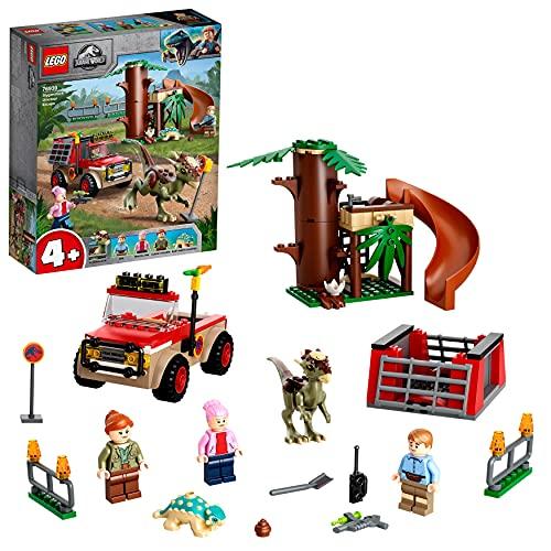 LEGO Jurassic World La Fuga del Dinosauro Stygimoloch, Giochi per Bambini di 4 Anni con Minifigures e Casa sull'Albero, 76939