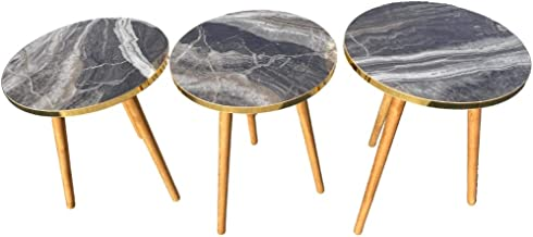 Coffee and tea service table set (grey marble)