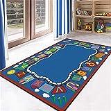 ZIRUO Baby Mat | Portable Anti-Drop Mat Educational ABC Carpet Cartoon Pattern Carpet