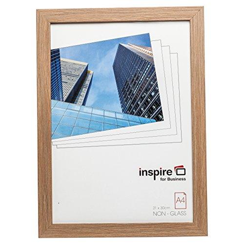 Hampton Frames SORBONNE Qualität braun Holz Effekt A4 21x30cm Zertifiziert Foto Poster Bildrahmen in Holz-Effekt mit Plexiglas. SORA4NG
