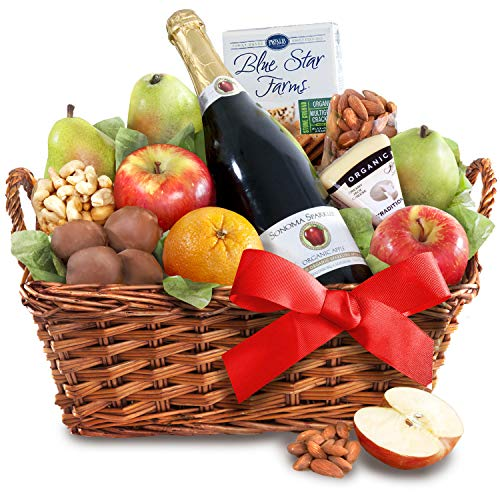 Organic Al Fresco Fruit, Cider and Gourmet Basket