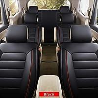 全天候用カスタムフィットシートカバー フォルクスワーゲン Volkswagenup! 7座席完全保護防水カーシートカバーウルトラコンフォート ブラック フルセット