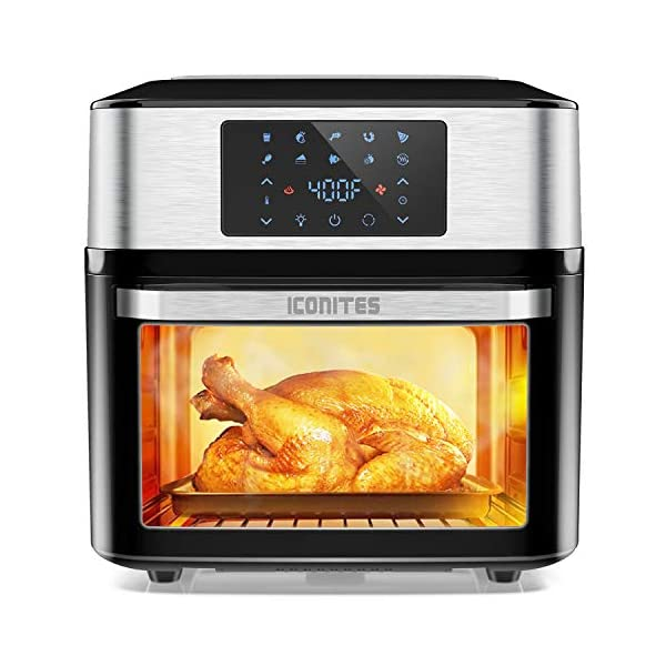 10-in-1 Air Fryer Oven, 20 Quart Airfryer Toaster Oven Combo, 1800W Large Air Fryers, Convection Toaster Oven with Rotisserie Dehydrator, ETL Certified