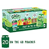 GoGo squeeZ Applesauce on the Go, Variety Pack (Apple Apple/Apple Peach/Apple GIMME 5), 3.2 Ounce (20 BPA Free Pouches), Gluten Free, Vegan Friendly, Unsweetened, Recloseable (Package May Vary)
