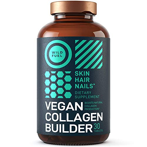 Maximum Potency Vegan Collagen Builder - Wild Fuel Cruelty-Free Kickstart Formula - Concentrated Support for...