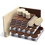 X-PROTECTOR Almohadillas de fieltro para muebles, 133 piezas, color marrón 106 + beige, 27 tamaños diferentes, los mejores protectores de suelo de madera. Protege tu suelo de madera dura y laminado.