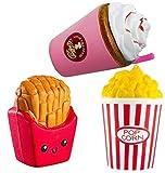 ZhengYue Squishy Kawaii Grandes Baratos Juguete Niños Squeeze Popcorn Papas Fritas Café Squishy Slow Rising Pack Descompresión Juguetes Compresivos