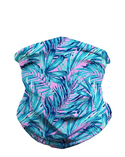 Aquatic Jungle Breathable Neck Gaiter Half Face Cover Cool Skiing Mask Bandana Festival Rave Balaclava Scarf iHeartRaves
