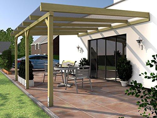 Terrassenüberdachung SYLT III Wintergarten 600 x 300 cm Überdachung Terrasse