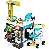 Smoby-350206 Super Market, Color Negro, Verde, Turquesa, Blanco (350206)