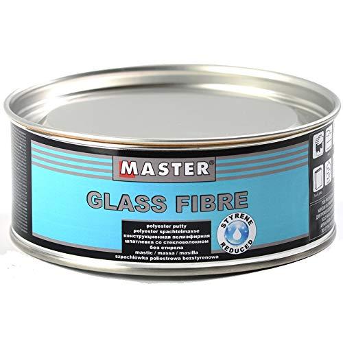 Troton Spachtelmasse Glasfaser 1Kg Polyester inkl. Härter Glasfaserspachtel Polyesterspachtelmasse Spachtel
