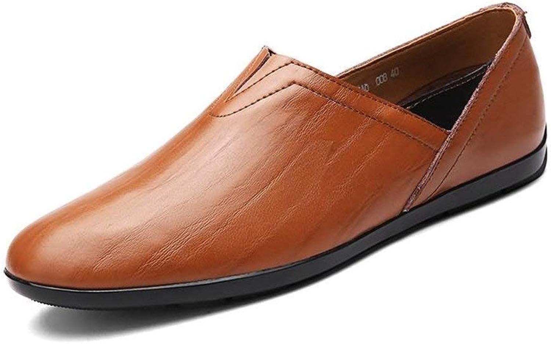 Herren Herren Herren Mokassins Schuhe, Männer Loafers PU Leder Slip-on Modische Mokassins Leichte Minimalismus Freizeitschuhe (Farbe   rot braun, Größe   37 EU) (Farbe   Wie Gezeigt, Größe   Einheitsgröße) e18d9f