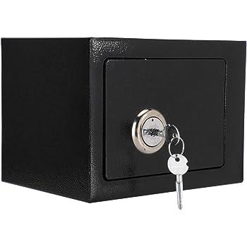 Caja fuerte de acero, caja fuerte con llave y combinación, caja ...