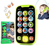 Kidpal Baby Cell Phone Toy for Kids 1 2 Year Old, Baby Toy for Boy and Girl with Light Music and...