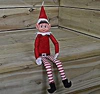 Lot de 2lutins en peluche. Habillés avec des vêtements rayés blancs et rouges comme le petit assistant du Père Noël. Empêchez-le de faire des bêtises et placez-le dans des endroits difficiles à atteindre. Ajoutez de la magie à Noël pour les enfants....