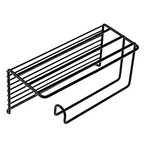 Keukenrolhouder Muur gemonteerd/Metaal Papier Handdoek Houder voor De Keuken Wand/Praktische Keuken Organisator Zwart