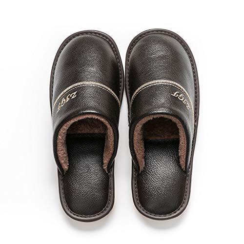 shoe Pantuflas de algodón para Hombre, Zapatos de casa, Pantuflas de Abrigo...