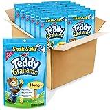 Teddy Grahams Honey Graham Snacks, Snack-Sak, 8 Ounce (Pack of 12)