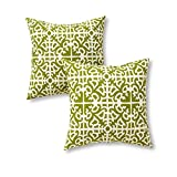 Greendale Home Fashions AZ4803S2-GRASS Moss Outdoor 17-inch Square Throw Pillow (Set of 2)