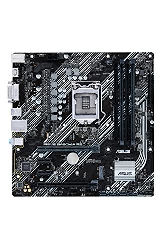 ASUS PRIME B460M A R2.0 Carte mère Intel H470 LGA 1200 micro ATX PCIe 4.0, 8 phases d'alimentation, HDMI, DVI, SATA 6 Gbps, USB 3.2 Gen 1, Intel 1 Gb Ethernet, Intel Optane, ASUS OptiMem, FAN Xpert