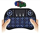 Wireless Mini Keyboard Remote Control Touchpad Mouse Combo Controller with RGB Backlit for Smart TV Android TV Box PC IPTTV 2.4GHz