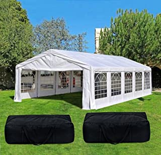 Quictent 32' x 16' Heavy Duty Carport Party Wedding Tent Canopy Gazebo Car Shelter with 4 Carry Bags