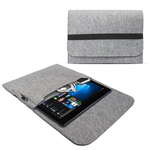 eFabrik Sleeve Cover für Medion Akoya P3401T Tasche (passend Notebook inkl. Tastatur) Hülle Ultrabook Laptop Schutztasche Schutzhülle Cover Hülle Filz hell grau