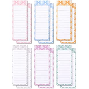 Customer reviews Juvale To-do-List Notepad - 12-Pack Magnetic Notepads, Grocery List Magnet Memo Pad Shopping, To Do List, Reminders, House Chores, 6 Colors Designs, 60 Sheets Per Pad, 3.5 x 9 Inches