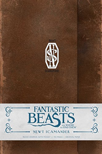 FANTASTIC BEASTS AND WHERE TO FIND THEM: NEWT SCAMANDER HARDCOVER RULED JOURNAL (Harry Potter)