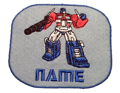 Love2Embroider Parche para la ropa para planchar o coser, personalizable , Optimus Prime (size 95x77mm), Iron on(temporary solution)