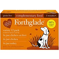 Forthglade Natural Grain Free Completmentary Wet Dog Food Just 90 Percent Poultry Variety Pack 395 g...