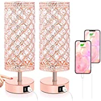 2-Pack TOBUSA Touch Control Crystal Table Lamp Set