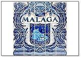 Málaga Azulejo Cerámica Andalucía España Imán para nevera
