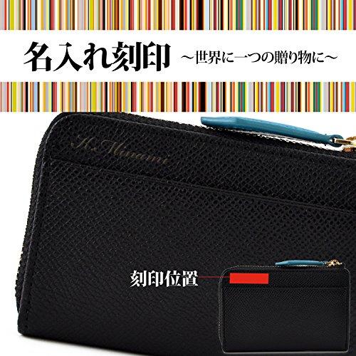 ポールスミスPaulSmithカラーフラッシュレザーコインパース本革小銭入れコインケース財布(ブラック)