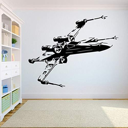 AQjept Modelo de avión calcomanía de Pared Pegatina de Vinilo para decoración de habitación de Adolescente Mural Impermeable extraíble42x34cm