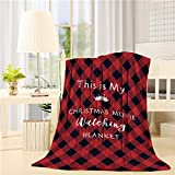 DoremiHome This is My Christmas Movie Watching Blanket Fuzzy Throw Blanket for Bed and Couch Winter Warm Blankets 40 x 50 inches Buffalo Plaid Bed Blanket
