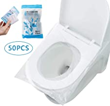 Surplex 50 Pcs Fundas protectoras desechables para inodoro, Asiento Inodoro Fundas WC Protector resistente al agua para Baño, viaje, hospital, hogar