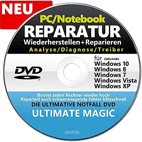 REPARATUR CD/DVD für Windows 10, 8, 7, XP - Für HP, Lenovo, Samsung ✔ Computer Reparatur