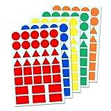5 Colores - Gomets Formas Geométricas Etiquetas Adhesivos - Pack de 900