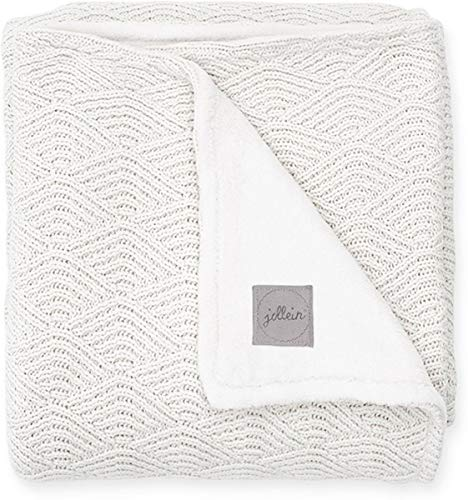 Jollein 517-522-65287 Kinder-Decke Strick mit Fleece Knit cream white Gr. 100x150 cm