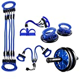 LOVEYue 5-en-1 Rueda De Rodillo Abdominal Push-UP Soporte Rack Gimnasio Equipo De Fitness, Te Hace Tener Un Cuerpo Ideal Azul