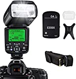 ESDDI Camera Flash for Canon DSLR Camera, E-TTL 1/8000 HSS GN58, Multi, Wireless Camera Flash Set Include 2.4G Wireless...