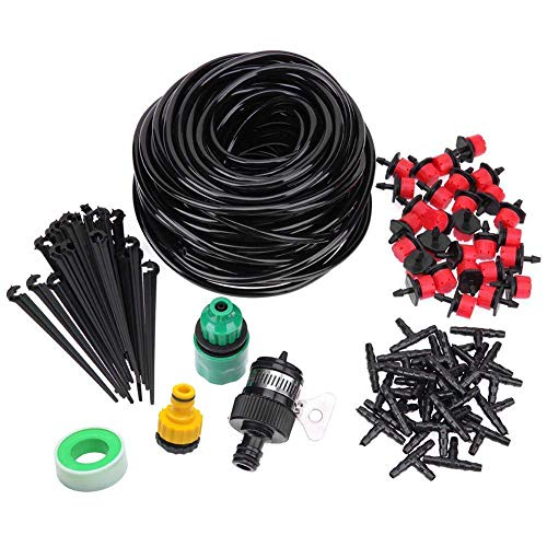 Kalolary 50ft Drip Irrigation Kits Accessories Plant Watering System...