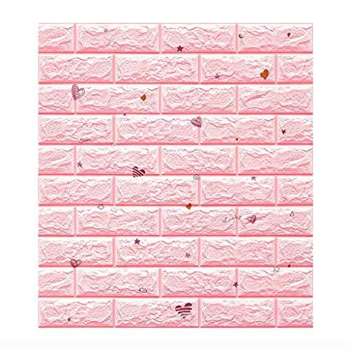 Paneles para paredes interiores 3D Ladrillo Etiqueta De La Pared 77X70cm PE Espuma Extraíble Autoadhesivo Arte Mural Adhesivos, Resistente Al Agua, A Prueba De Humedad, Anti-colisión, Sala De Juegos F