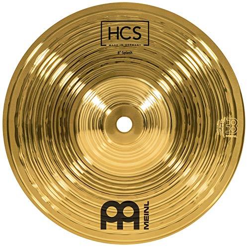Meinl Cymbals HCS 8 Zoll Splash Becken für Schlagzeug – Messing, traditionelles Finish (HCS8S)